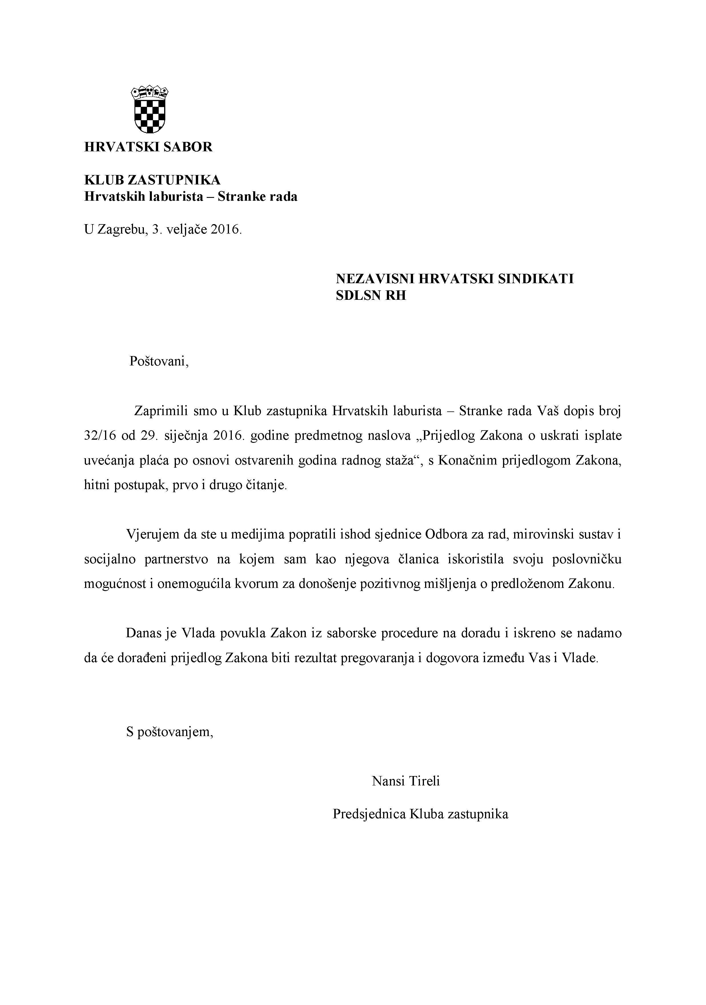 Dopis sindikati ZUPUP